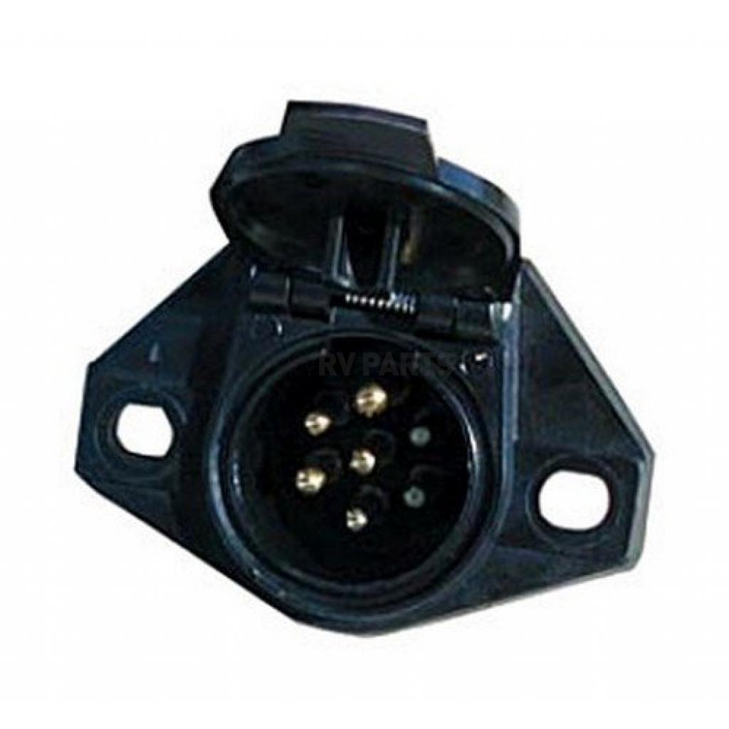 Pollak Trailer Wiring Connector  7 Way Round Socket 40 Amp