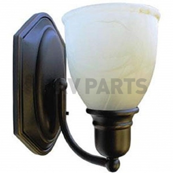 LaSalle Bristol Sconce LED Light 12V Oil Bronze with Alabaster Glass and Switch-2