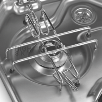 Two Burner Stainless Steel Cook Top with Glass Lid 690576-2