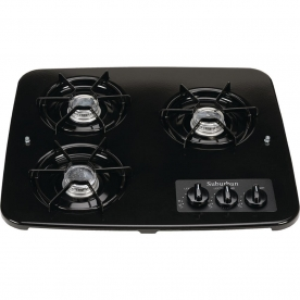 Suburban Mfg Stove Cook Top - Model SDN3BK - Black - 2938ABK