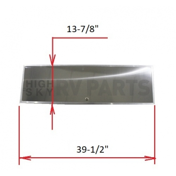Rear Aluminum Hatch Door new for 1964-1968 Airstream (Do not use for 1967) - 106833-2-4