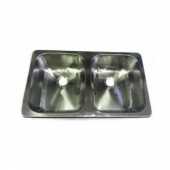 """Sink Rectangular Galley Stainless Steel 16"""" x 27"""" 602172"""