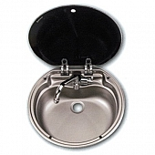 Round Kitchen Sink Assembly with Faucet 602197