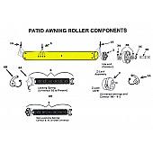 "Awning Roller Tube 3"" 18ga Galvanized Steel 330240"