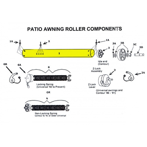 Awning Roller Tube 3 Quot 18ga Galvanized Steel 330240