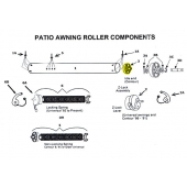 Idle End Assembly for Awning Roller 201500