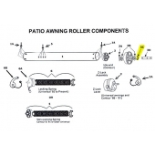 Retaining Clip for Awning Idler Assembly 312060