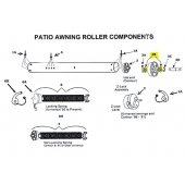 Washer for Awning Tube  Idle End Assembly 312030
