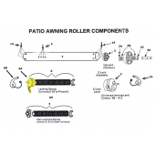 Z Spring Lock Assembly for Patio Awning Roller 201200