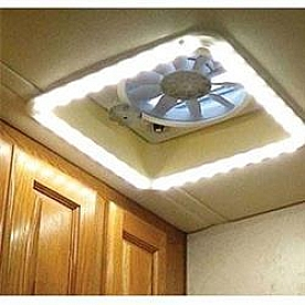 Heng's Industries Roof Vent Trim Diffuser Light with  Cool White LED Bulb HG-LR-C-CW-AFT