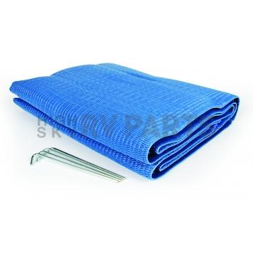 Camco RV Patio Mat 9 Feet x 6 Feet Blue - 42881-2