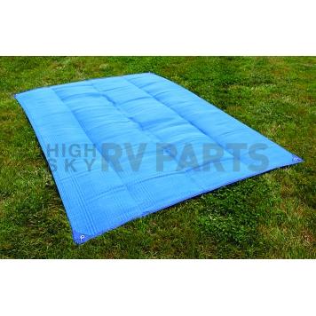 Camco RV Patio Mat 9 Feet x 6 Feet Blue - 42881-1
