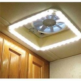 Heng's Industries Roof Vent Trim Clear Diffuser Light with Warm White LED Bulb HG-LR-C-WW-AFT