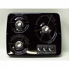 Dometic Wedgewood Cooktop DV-30 B - with Stainless Steel Top and 3 Burners - 56471