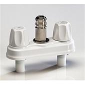 American Brass Exterior Spray Port Quick Connect Valve White Plastic CRD-EMPR-QDC-W