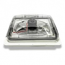 """Heng's Industries Roof Vent Manual Opening 14"""" x 14"""" Roof Openings with Fan and Clear Lid SV0112-G4"""
