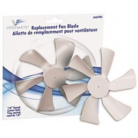 """Ventmate Exhaust Fan Blade For Jensen Roof Vents/ Range Hoods 1/8"""" D-Bore; 6"""" Diameter with Clock Wise Spin"""