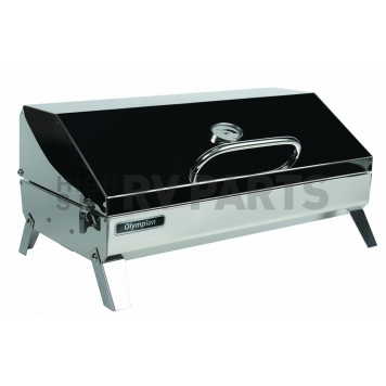 Camco Camping Barbeque Grill - Polished Stainless Steel - 57245-1