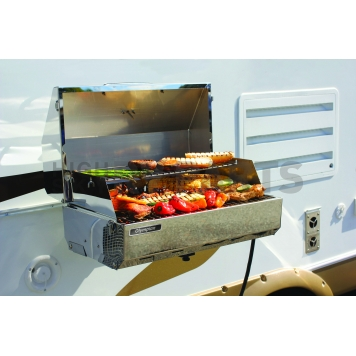 Camco Camping Barbeque Grill - Polished Stainless Steel - 57245-2