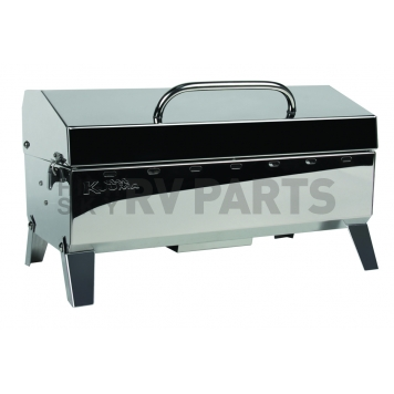 Camco Camping Barbeque Grill - Polished Stainless Steel - 58110-1