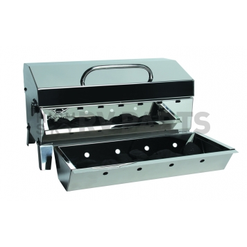 Camco Camping Barbeque Grill - Polished Stainless Steel - 58110-2
