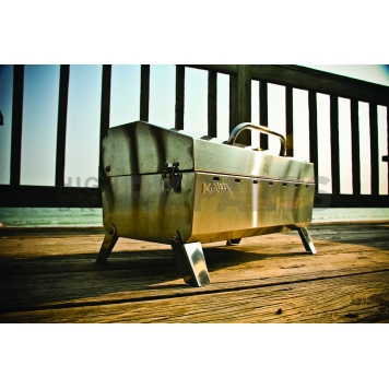 Camco Camping Barbeque Grill - Polished Stainless Steel - 58110-5