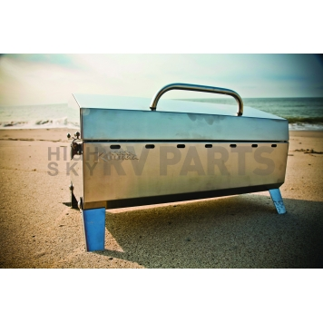 Camco Camping Barbeque Grill - Polished Stainless Steel - 58110-6