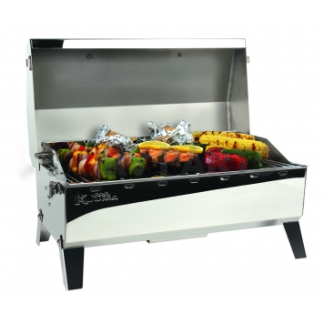 Camco Camping Barbeque Grill - Polished Stainless Steel - 58110