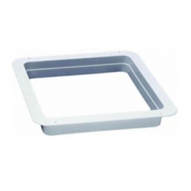 """Heng's Industries Roof Vent Trim Ring 26"""" x 26"""" x 2"""" Depth Opening Escape Hatches with Radius Corners White 90015"""