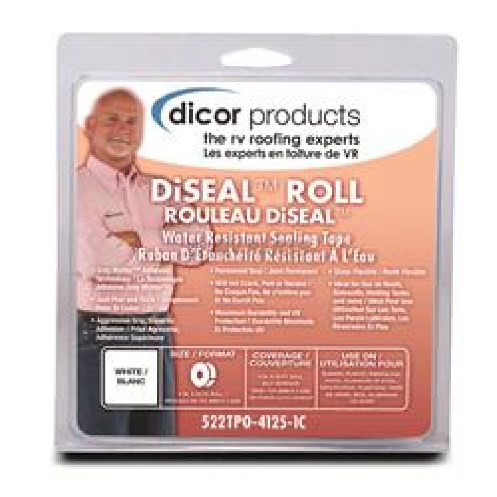 Dicor 522TPO-66-1C White 6 x 6 Patch Diseal Tape