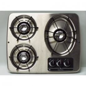 Dometic Wedgewood Stove Cooktop DV-30 S - with Stainless Steel Top and 3 Burners - 56472