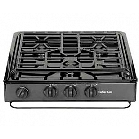 Suburban Mfg Stove Cooktop - SCN3BEZ - Black with Piezo Ignition - 3600A