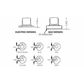 Uni-Line Stove Control Knob Insert 4590-605