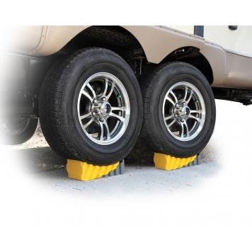 Camco Wheel Chock Yellow Gray - 44423-2