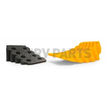 Camco Wheel Chock Yellow Gray - 44423