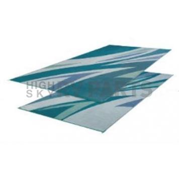 Faulkner RV Patio Mat 16 Feet x 8 Feet Green And Blue - 45637