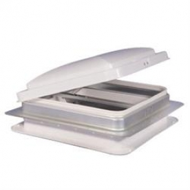 """Heng's Industries Roof Vent Manual Opening 14"""" x 14"""" with Screen, Galvanized Metal Base - Without Fan 75111-C1G2"""