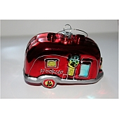 Airstream Christmas ornament red glass