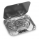 Two Burner Stainless Steel Cook Top with Glass Lid 690576