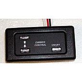 Switch Dimmer Black 12 Volt - 511474-02 NLA