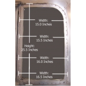 1969 only Airstream Wing Window Road Side 680190 NLA
