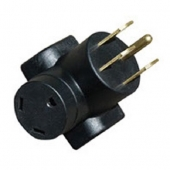 AP Products RV Power Cord Adapter 50 Amp Plug x 30 Amp Receptacle - 16-00583