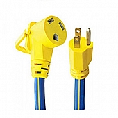 """Voltec Pro Series RV Power Cord Adapter, 5-15P Plug And 30 Amp Receptacle, 12"""" - 16-00502"""