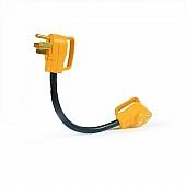 "Camco RV 18"" PowerGrip Dogbone Electrical Adapter, 50AM / 30AF - 55175"