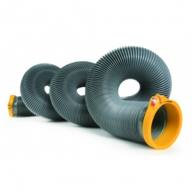 Camco Sewer Hose 15' Length - with Built In Clamp - 39901