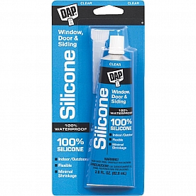 DAP Adhesive Sealant 2.8 oz. Clear Indoor or Outdoor Use