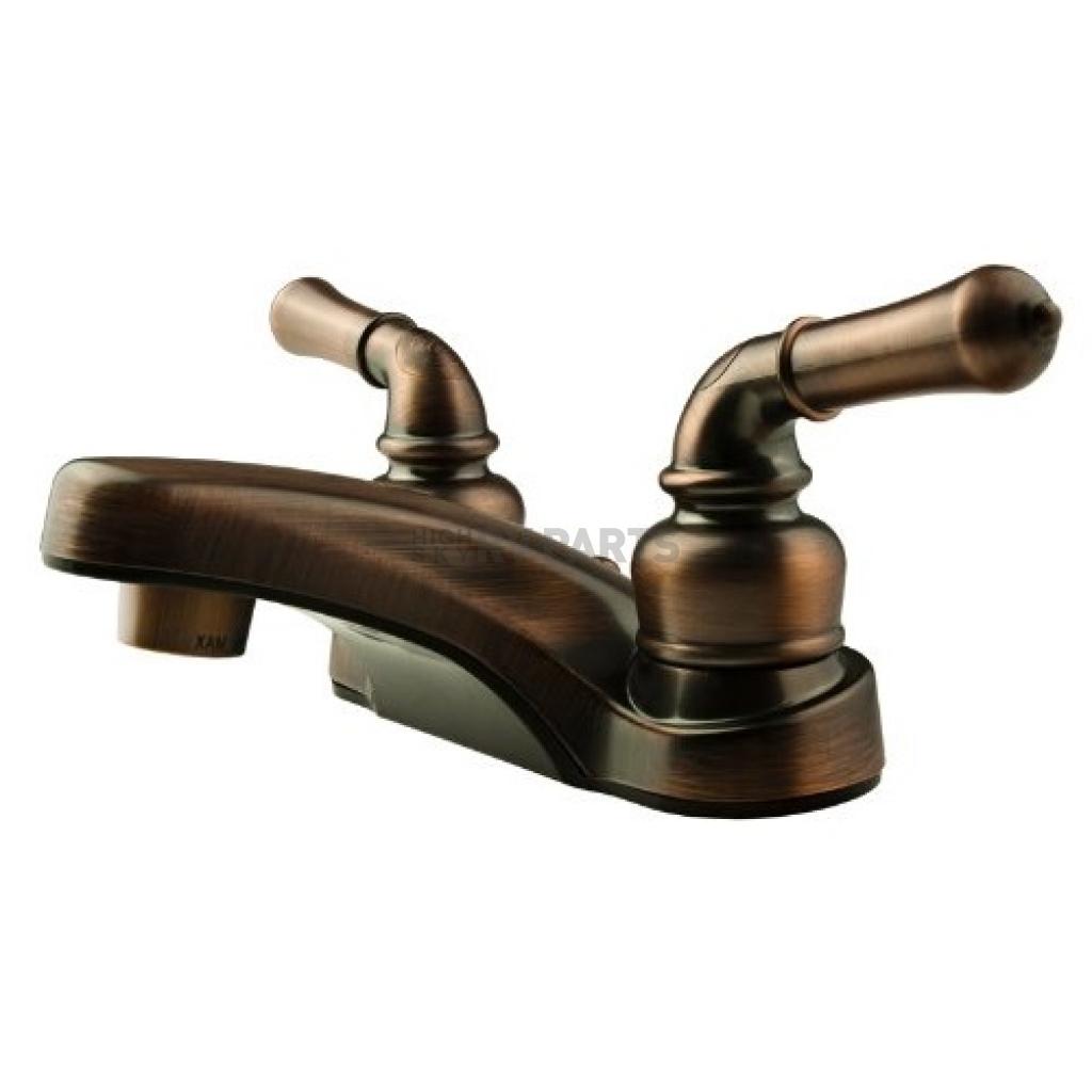 Dura Faucet DF-PL700C-ORB RV Bathroom Faucet with Classical Handles