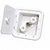 Phoenix Products Exterior Splay Port Spray-Away Quick Connect Valve White Plastic PF247201