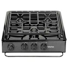 Suburban Mfg Stove Cooktop - SCS3BEZ - Black with Piezo Ignition - 3631A
