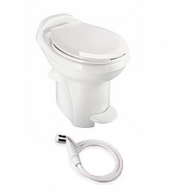 Bone High Profile Thetford Aqua-Magic Style Plus RV Toilet with Water Saver Thetford 34435